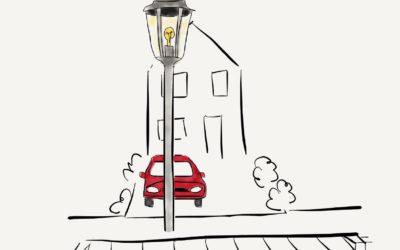 Een lantaarnpaal voor de oprit!?! Waarom?